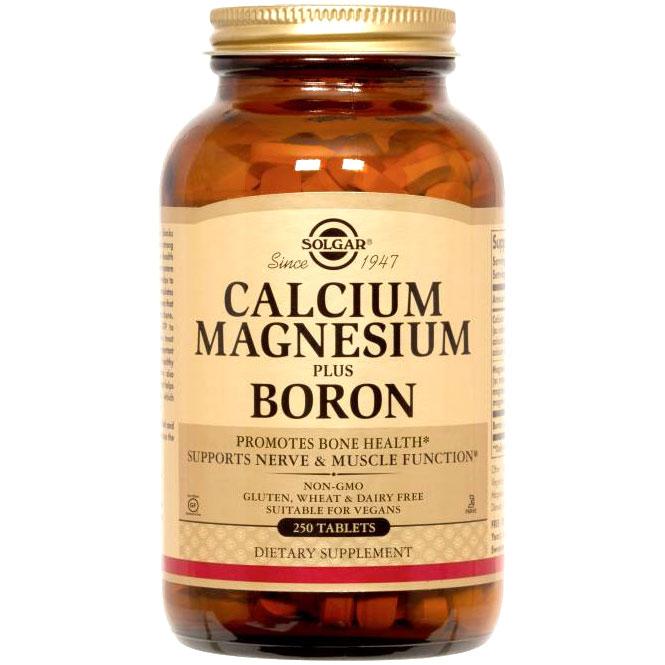 Calcium Magnesium Plus Boron, Vegetarian, 250 Tablets, Solgar