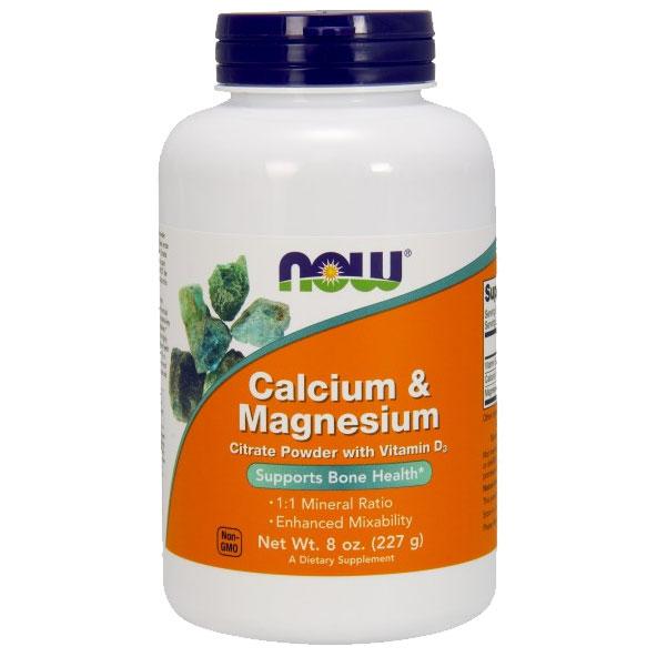 Calcium/Magnesium Citrate Powder, 8 oz, NOW Foods