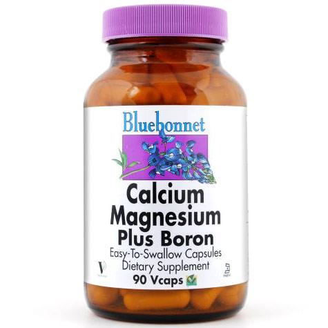 Calcium Magnesium Plus Boron, 180 Vcaps, Bluebonnet Nutrition