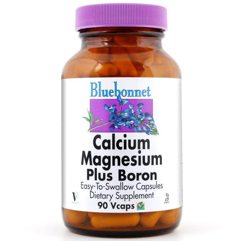 Calcium Magnesium Plus Boron, 90 Vcaps, Bluebonnet Nutrition