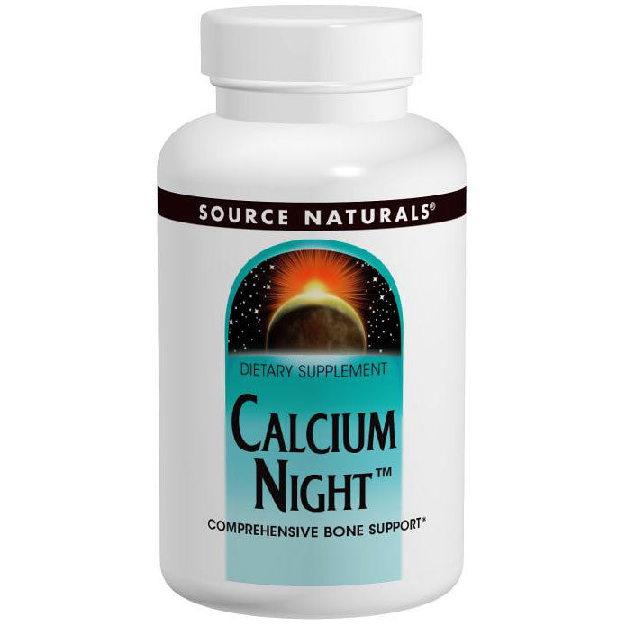 Calcium Night, Comprehensive Bone Support, 120 Tablets, Source Naturals