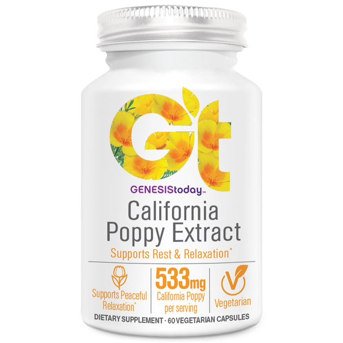 California Poppy, 60 Vegetarian Capsules, Genesis Today