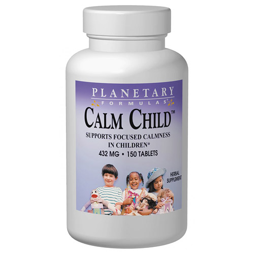 Calm Child for Active Children 150 tabs, Planetary Herbals