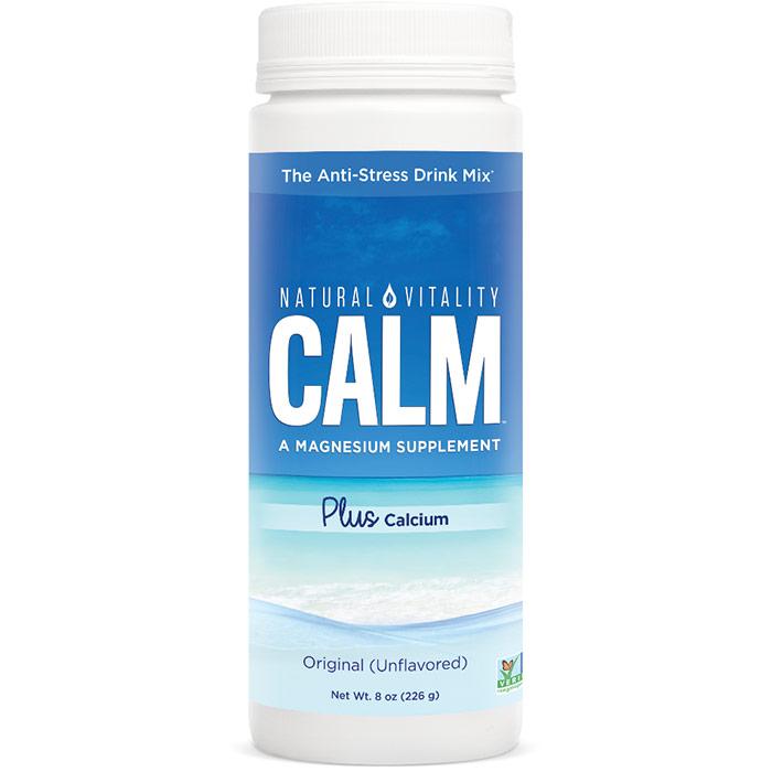 Natural Calm Plus Calcium, Balanced Magnesium Calcium Drink, 8 oz, Natural Vitality