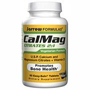 CalMag Citrates 2:1 (Calcium Magnesium), 90 Easy-Solv tabs, Jarrow Formulas