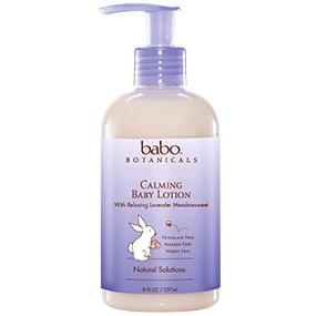 Calming Baby Lotion, Lavender Meadowsweet, 8 oz, Babo Botanicals