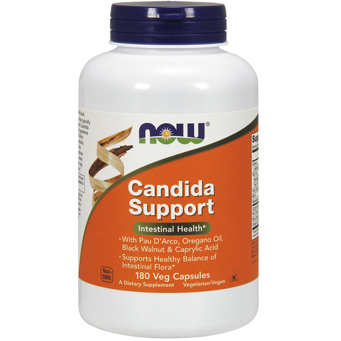 Candida Support, Value Size, 180 Vegetarian Capsules, NOW Foods