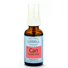 Liddell Candida Yeast Homeopathic Spray, 1 oz