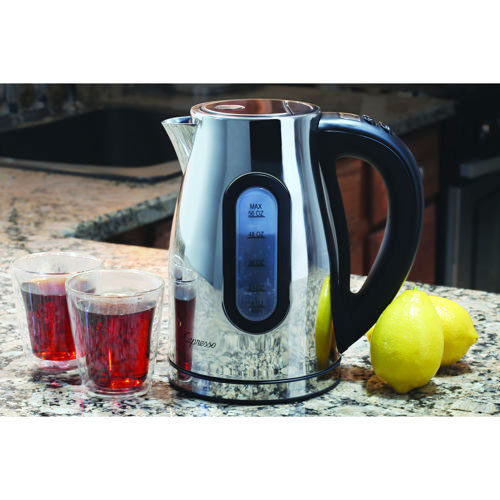Capresso H2O Pro Water Kettle, Cordless, Polished Stainless Steel, 56-oz