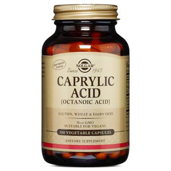 Caprylic Acid, 100 Vegetable Capsules, Solgar