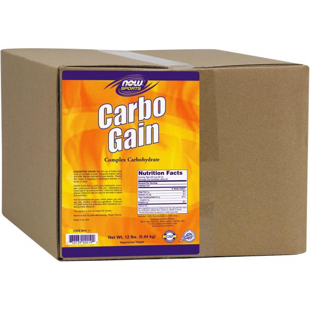 Carbo Gain Mega Pack, 12 lb, NOW Foods