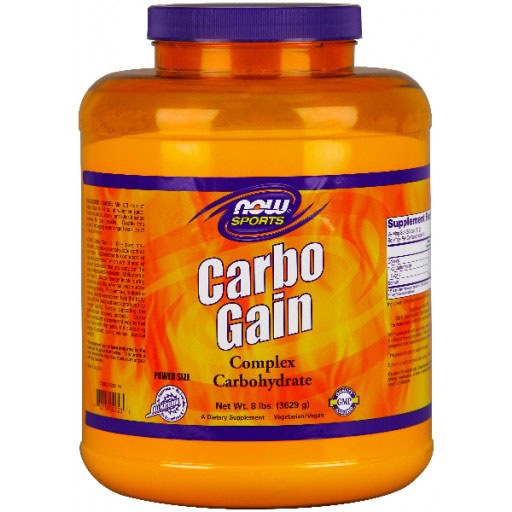 Carbo Gain Powder, Value Size, 8 lb, NOW Foods