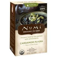 Cardamom Pu-erh Tea, 16 Tea Bags, Numi Tea