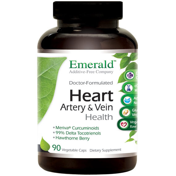 Heart, Artery & Vein Health (Formerly Cardio Health), 90 Vegetable Capsules, Emerald Labs