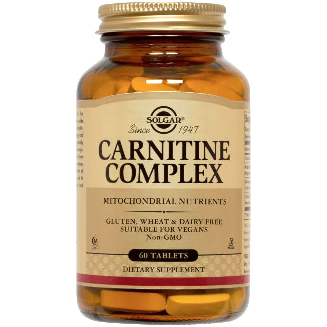 Carnitine Complex, 60 Tablets, Solgar