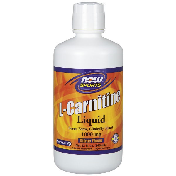L-Carnitine Liquid 1000 mg - Citrus, 32 oz, NOW Foods