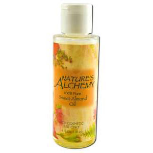 Carrier Oil Sweet Almond, 4 oz, Nature's Alchemy