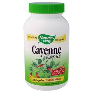 Cayenne Pepper 40,000 HU 100 caps from Nature