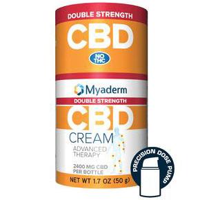 CBD Advanced Therapy Cream (Pain Cream), Double Strength, 50 g (1.7 oz), Myaderm