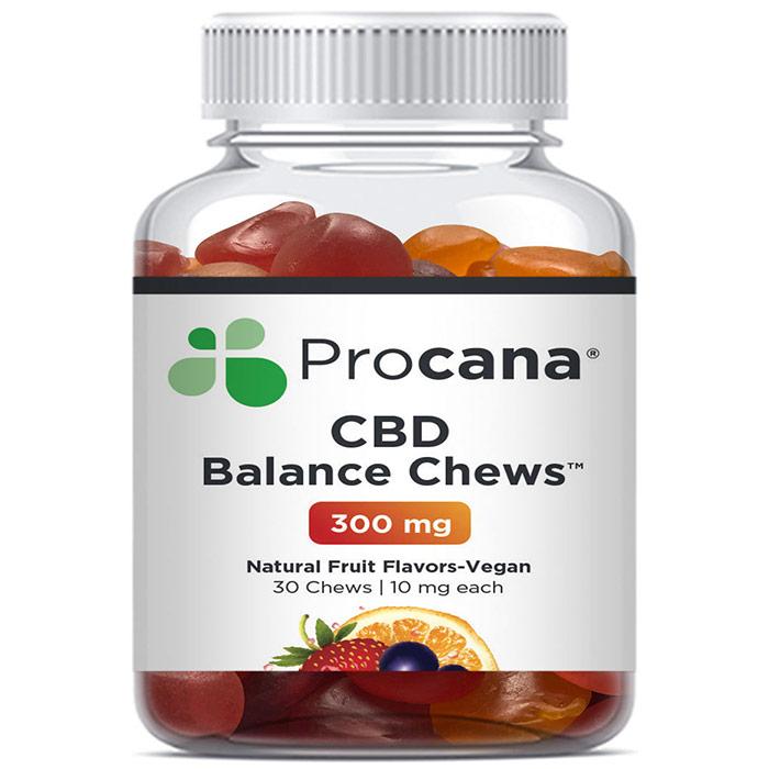 CBD Balance Fruit Chews, 10 mg Per Chew, 30 Chewables, Procana Laboratories