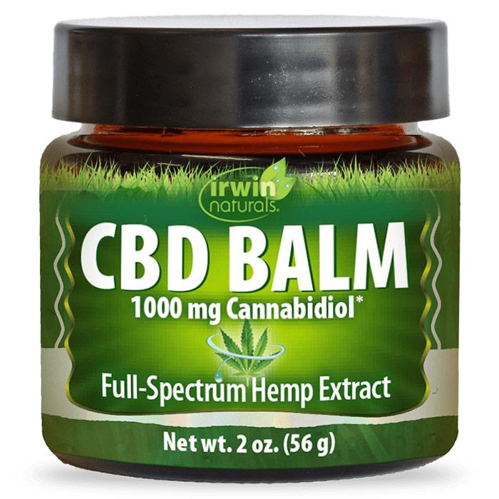 CBD Balm, 1000 mg Cannabidiol, 2 oz, Irwin Naturals
