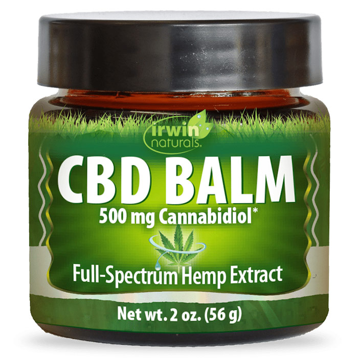 CBD Balm, 500 mg Cannabidiol, 2 oz, Irwin Naturals