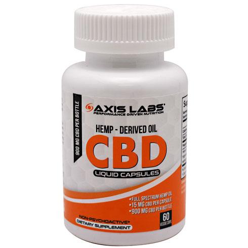 CBD Caps, Hemp-Derived Oil, 60 Liquid Capsules, Axis Labs