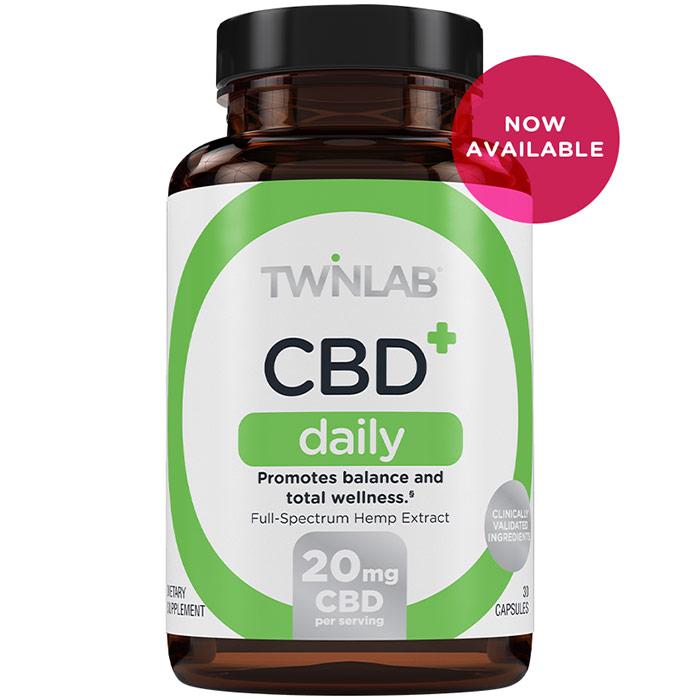 CBD+ Daily, 30 Capsules, TwinLab