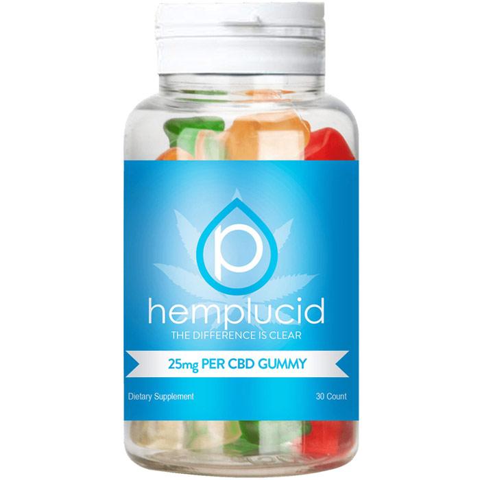 CBD Gummies 25 mg, 30 Count, Hemplucid