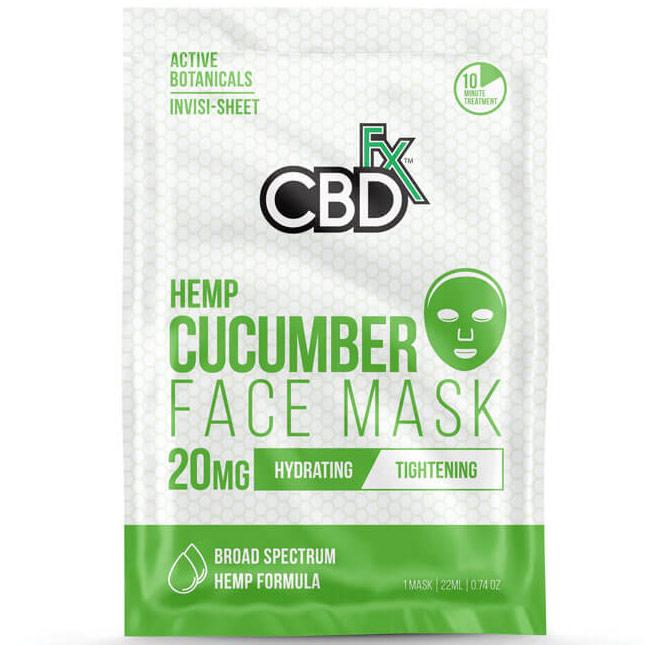CBD Hemp Cucumber Face Mask, 20 Pack, CBDfx