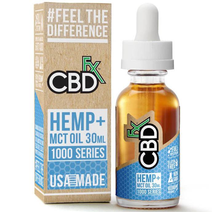 CBD Hemp + MCT Oil Tincture 1000 mg, 30 ml, CBDfx