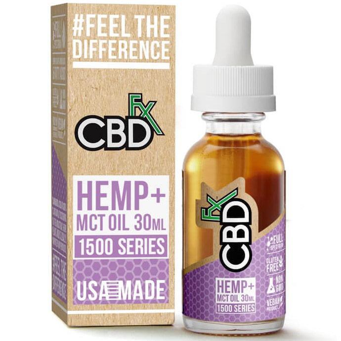 CBD Hemp + MCT Oil Tincture 1500 mg, 30 ml, CBDfx