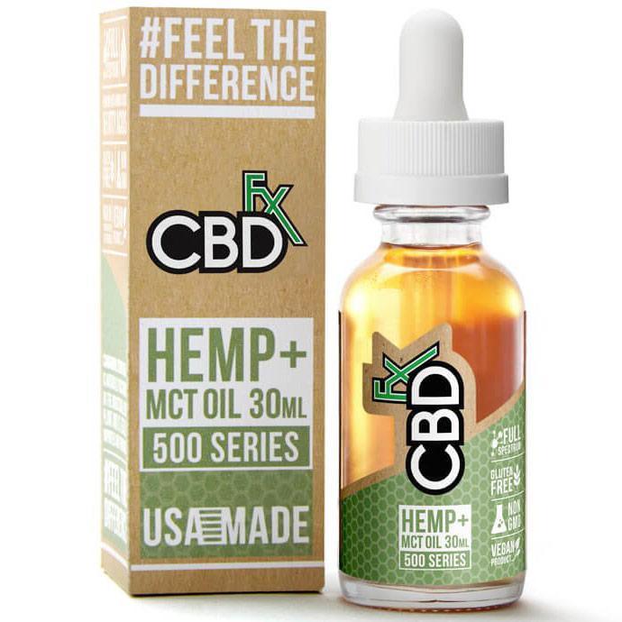 CBD Hemp + MCT Oil Tincture 500 mg, 30 ml, CBDfx