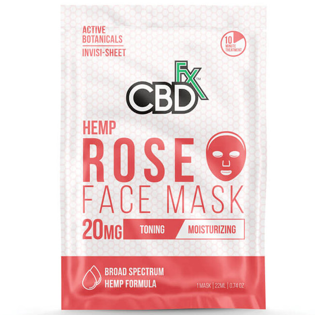 CBD Hemp Rose Face Mask, 20 Pack, CBDfx