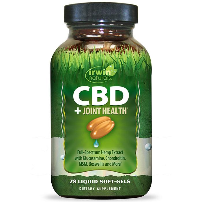 CBD + Joint Health, 78 Liquid Soft-Gels, Irwin Naturals