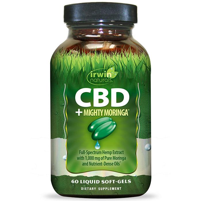 CBD + Mighty Moringa, 60 Liquid Soft-Gels, Irwin Naturals