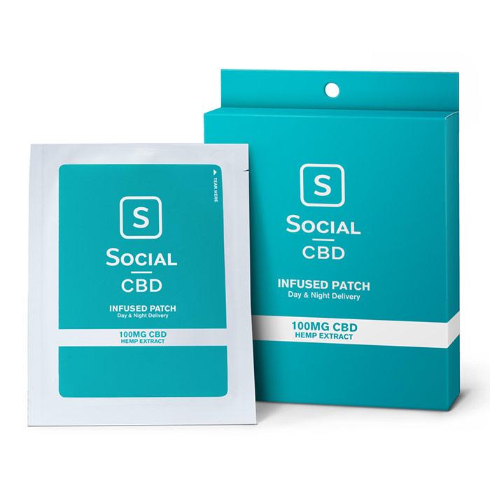 CBD Infused Transdermal Patch, 100 mg, 3 Pack, Social CBD