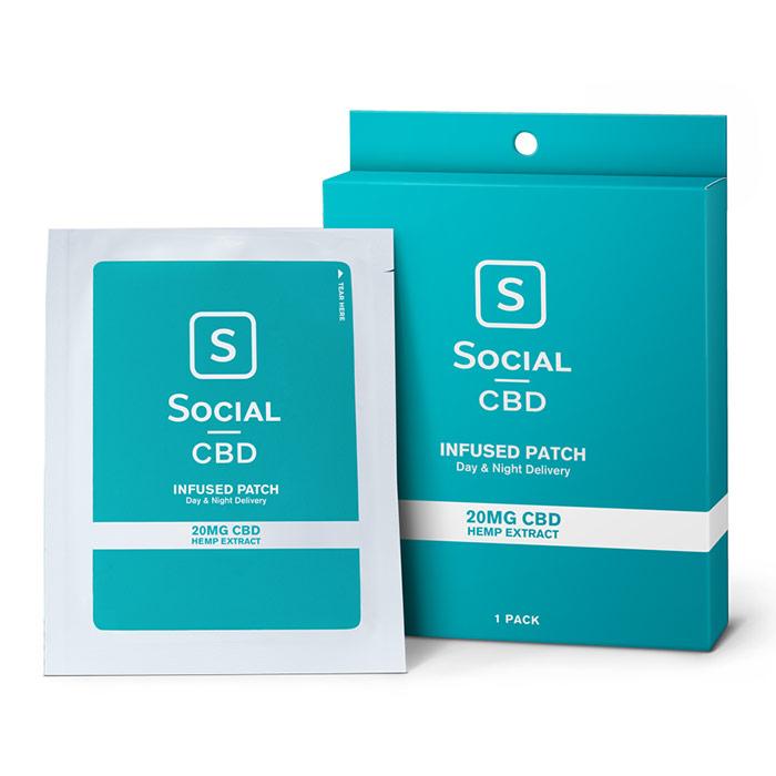 CBD Infused Transdermal Patch, 20 mg, 1 Pack, Social CBD