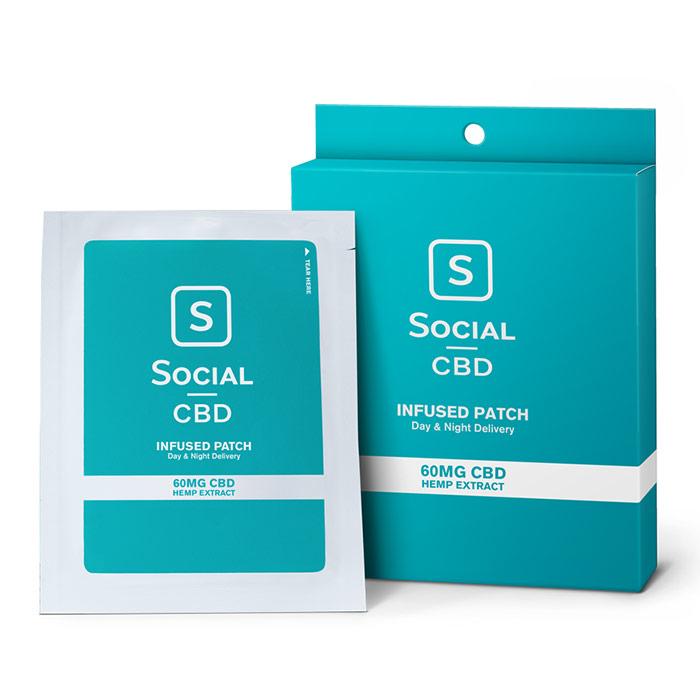 CBD Infused Transdermal Patch, 60 mg, 3 Pack, Social CBD