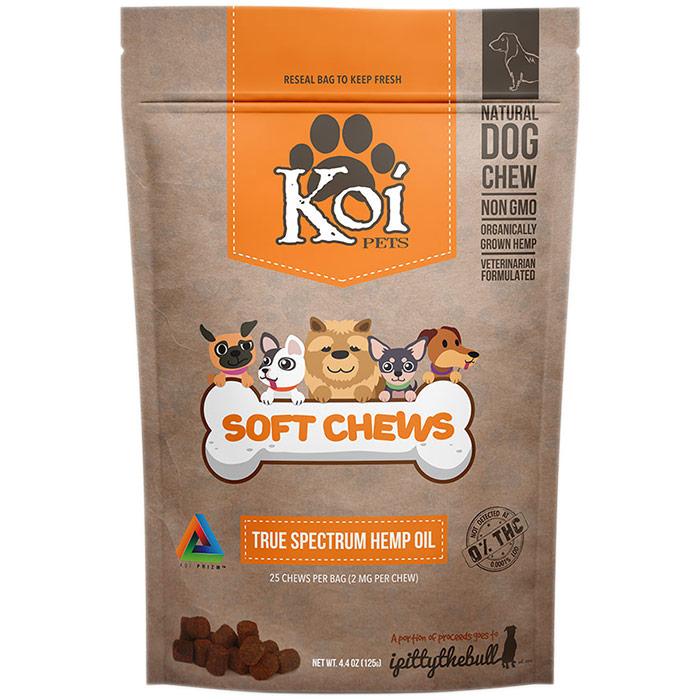 CBD Soft Chews for Pets, 4.4 oz (25 Chews), Koi CBD