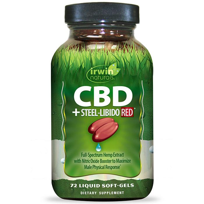 CBD + Steel-Libido RED, 72 Liquid Soft-Gels, Irwin Naturals