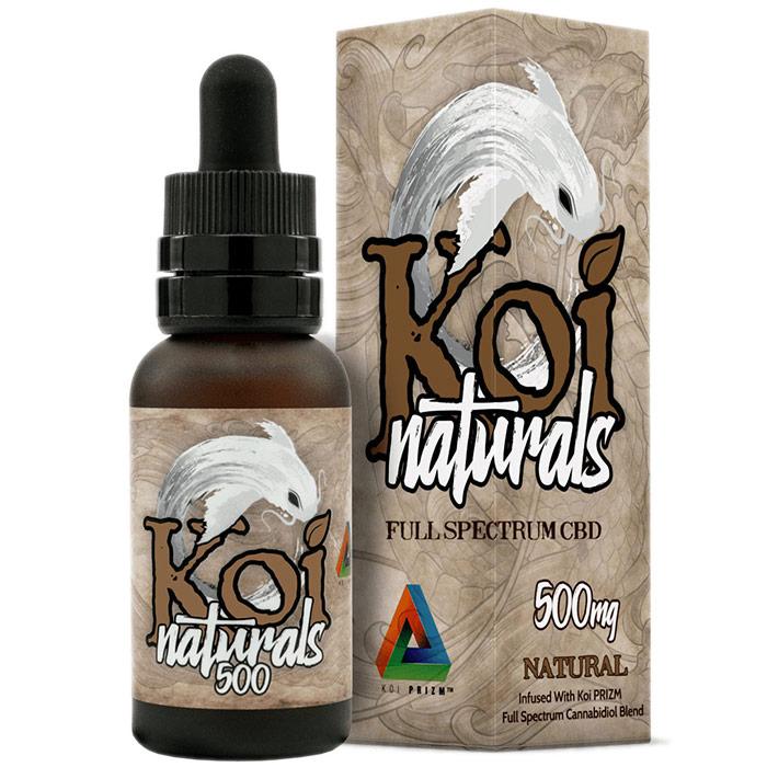 Full Spectrum CBD Tincture 500 mg, Natural Flavor, 30 ml, Koi CBD