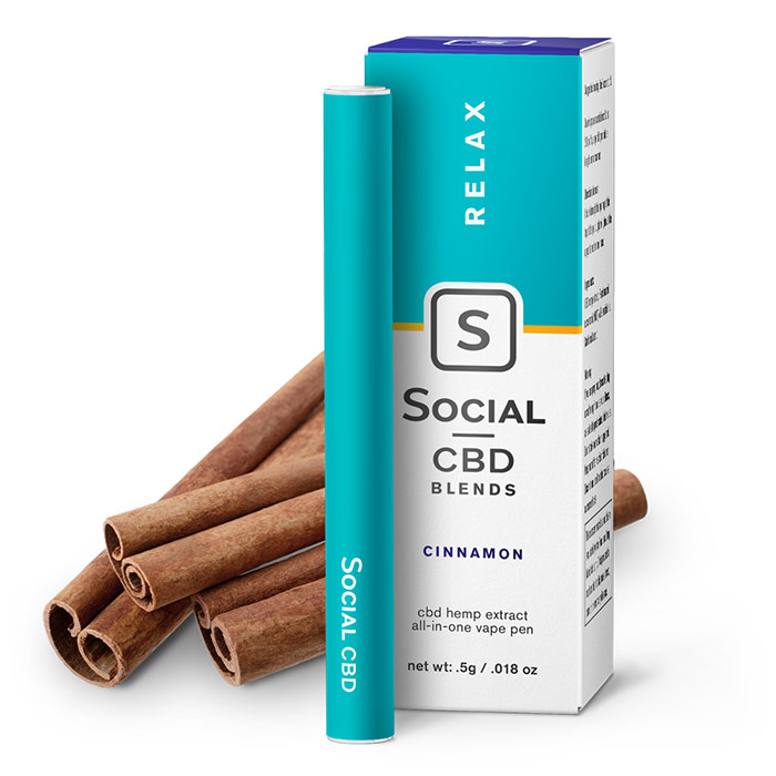 CBD Vape Pen - Cinnamon, 250 mg, 0.5 ml, Social CBD