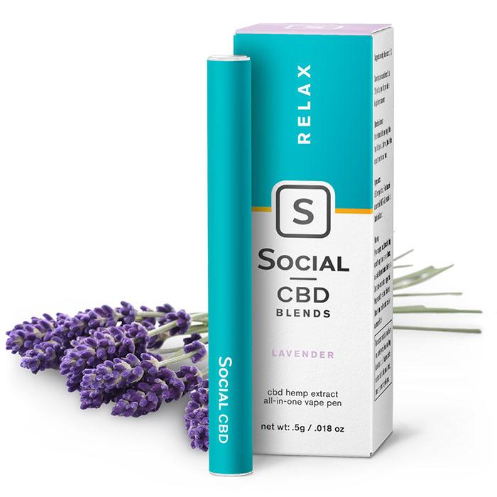 CBD Vape Pen - Lavender, 250 mg, 0.5 ml, Social CBD