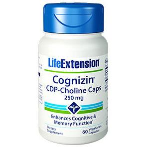 Cognizin CDP-Choline Caps, 250 mg, 60 Vegetarian Capsules, Life Extension