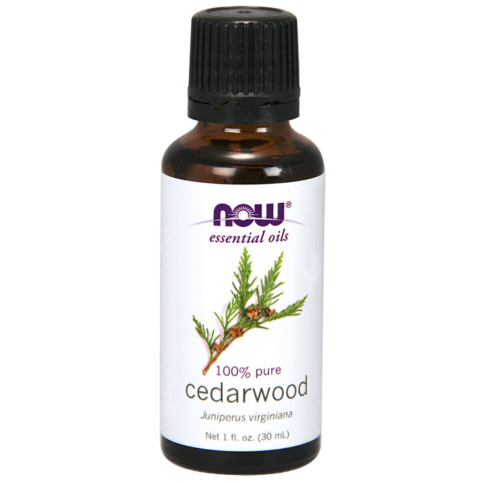 Cedarwood Oil, Pure Essential Oil 1 oz, NOW Foods