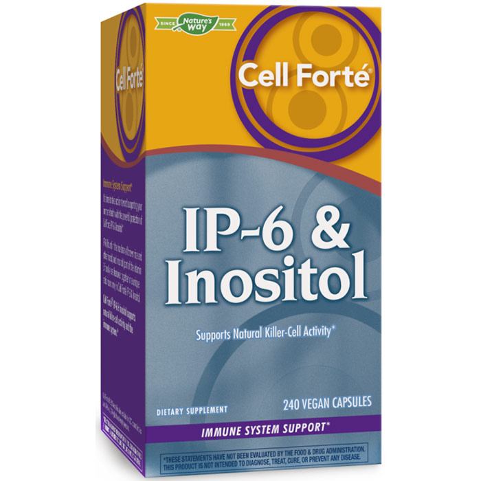 Cell Forte IP-6 & Inositol, 240 Veg Capsules, Enzymatic Therapy