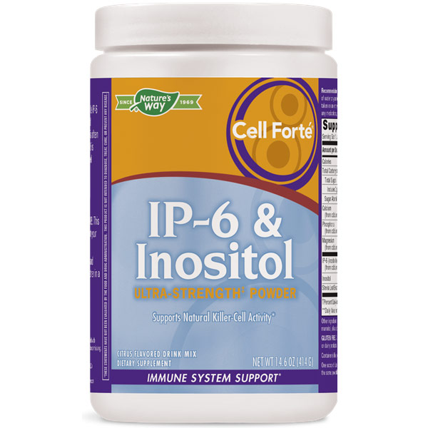 Cell Forte IP-6 & Inositol Powder, Citrus, 14.6 oz, Enzymatic Therapy