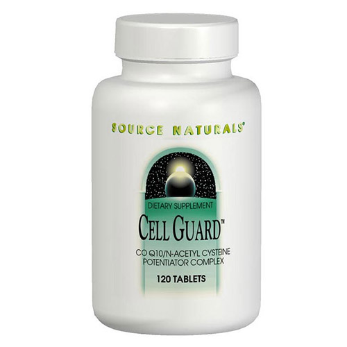 Cell Guard, CoQ10/NAC Complex 120 tabs from Source Naturals