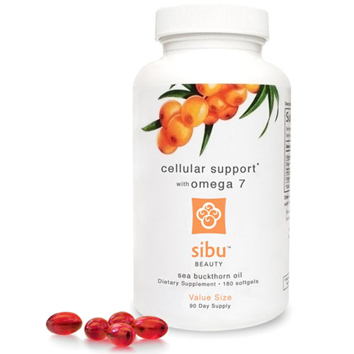 Sea Buckthorn Cellular Support with Omega 7, 180 Softgels, Sibu Beauty